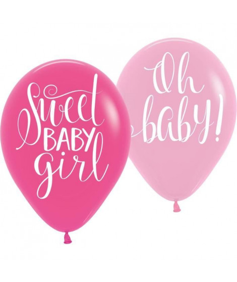 AMSCAN Lot de 6 Ballons latex Floral Baby 27,5 cm 11