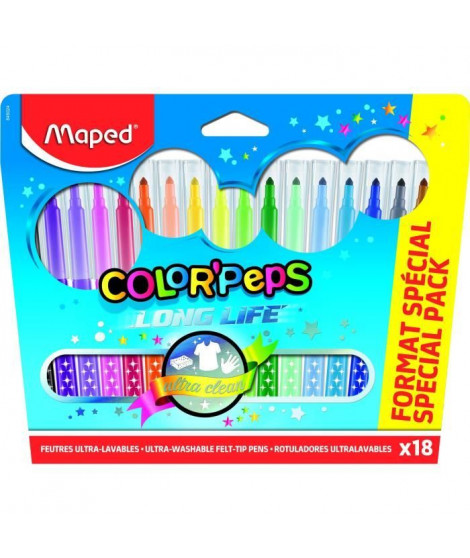 MAPED 18 Feutres Color'Peps Format Special