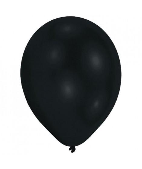 AMSCAN Lot de 10 Ballons en latex Premium 27,5 cm/11'' - Noir