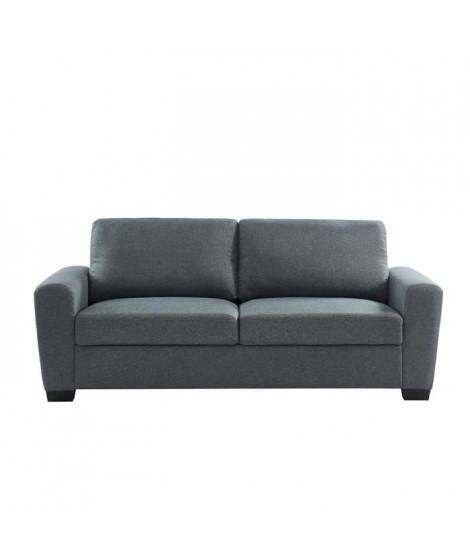 MILAN Canapé droit 3 places - Tissu gris - Contemporain - L 199 x P 78 x H 84 cm