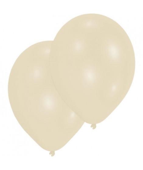 AMSCAN Lot de 10 Ballons en latex Premium 27,5 cm/11'' - Beige creme