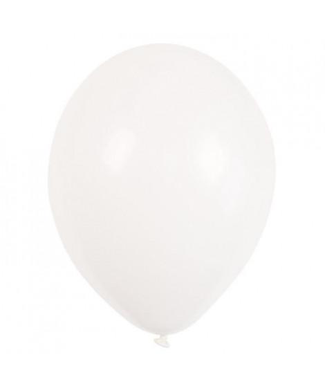 AMSCAN Lot de 10 Ballons en latex 27,5 cm/11 - Blanc transparent