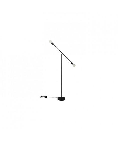 POP Lampadaire balancier en métal - 23 x 23 x H.140 cm - Noir - E27 25W