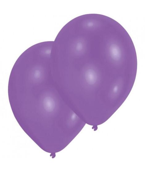 AMSCAN Lot de 10 Ballons en latex 27,5 cm/11'' - Violet métallique