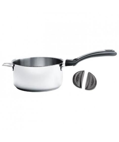 DE BUYER - 3491.04 - Lot 4 casseroles + 1 Queue amovible + 2 Anses - TWISTY - Ø 14cm + 16cm + 18cm + 20cm