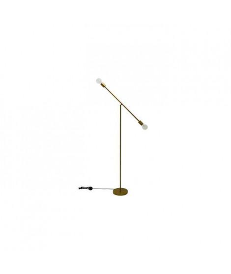 POP Lampadaire balancier en métal - 23 x 23 x H.140 cm - Or - E27 25W