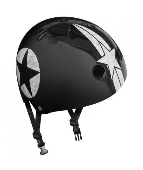 STAMP Casque Skate Black Star avec Molette d'Ajustement - Taille 54-60 cm