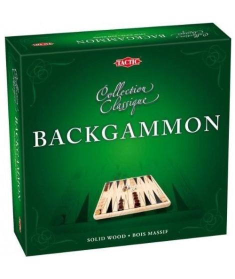 TACTIC Coffret Backgammon en Bois