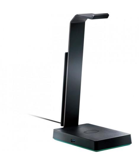 COOLER MASTER GS750 - Support pour Casque RGB - Chargeur Induction - Son Surround 7.1 - HUB USB 3.0 - Aluminium