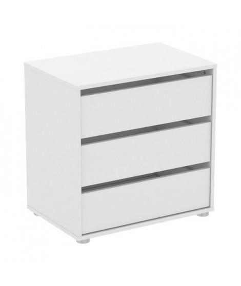BLOKTY Caissons d'armoire 3 tiroirs - Blanc - L 60 x P 39,6 x H 58,1 cm