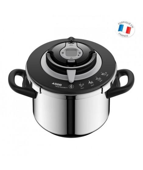 SEB P4221417 Autocuiseur Cocotte minute NUTRICOOK+  - Capacité 8L - inox - Tous feux dont induction - Fabriqué en France