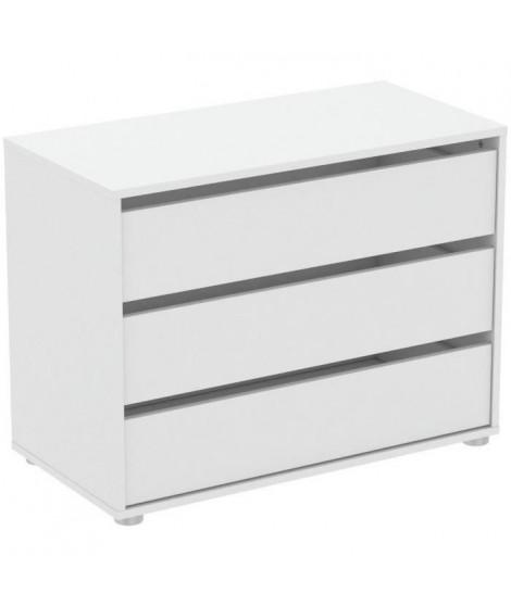 BLOKTY Caissons d'armoire 3 tiroirs - Blanc - L 79,6 x P 39,6 x H 58,1 cm