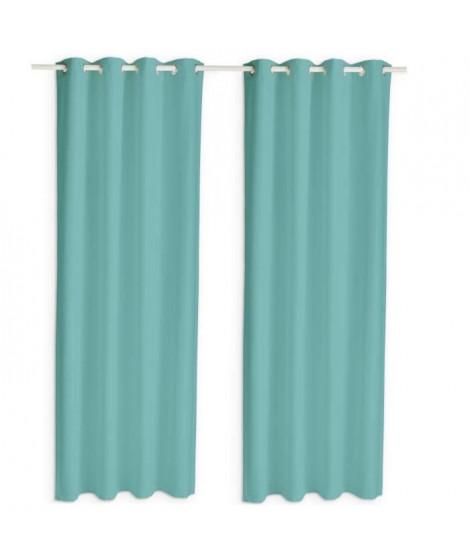 TODAY Paire de rideaux isolants thermiques - 140 x 240 cm - Diabolo menthe