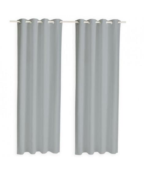 TODAY Paire de rideaux isolants thermiques - 140 x 240 cm - Zinc