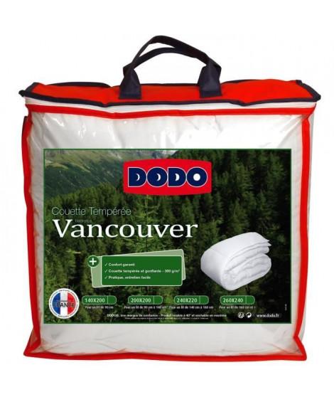DODO Couette tempérée Vancouver - 200 x 200 cm - Blanc
