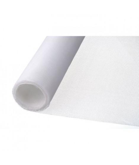 NATURE Moustiquaire en fibre de verre enduite de PVC - Blanc - Maille 1,6 x 1,8 mm - 1 x 3 m