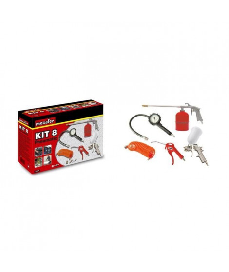 MECAFER Kit d'accessoires air comprimé 8 pieces