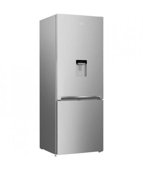 BEKO CRCSE460K20DS-Réfrigérateur combiné-460 L (336 + 124 L)-Froid statique-A+-L 70 x H 192 cm-Silver