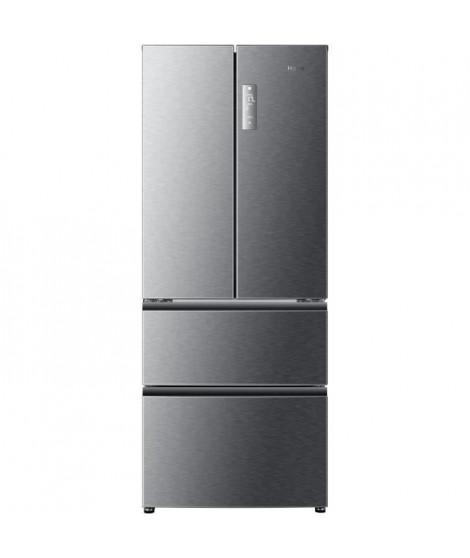 HAIER B390TGAAS - Réfrigérateur multi-portes - 382L (274+108) - Froid ventilé - A+ - L 70cm x H 180,4cm - Silver