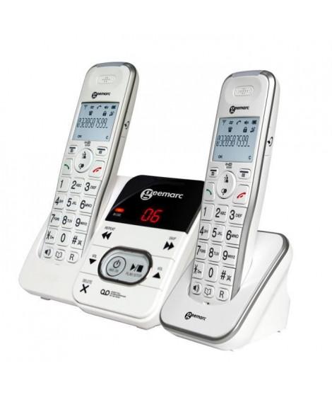 GEEMARC Téléphone fixe grosses touches sénior AMPLIDECT 295-2 (Duo - 2 Combinés)