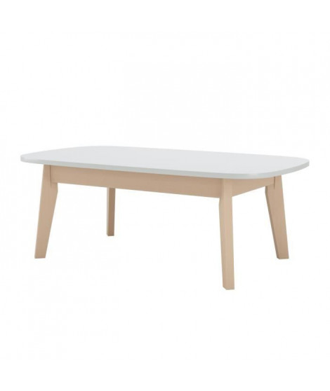 NAISS Table basse - Décor blanc - L 110 x H 40 x l 60 cm