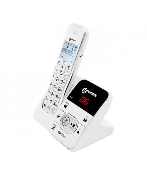 GEEMARC Téléphone grosses touches sénior amplifié numérique sans fil AMPLIDECT 295 - Avec répondeur intégré