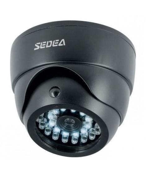 SEDEA Caméra de surveillance factice dôme avec détecteur de mouvement