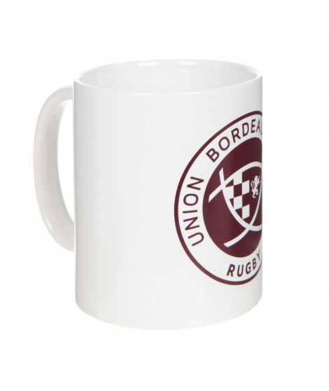 UBB Mug Logo - Blanc et rouge bordeaux