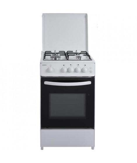 OCEANIC -  ETF156GSCF LU2W - Cuisiniere gaz - Blanc - 50x50 - Eclairage - Grill électrique