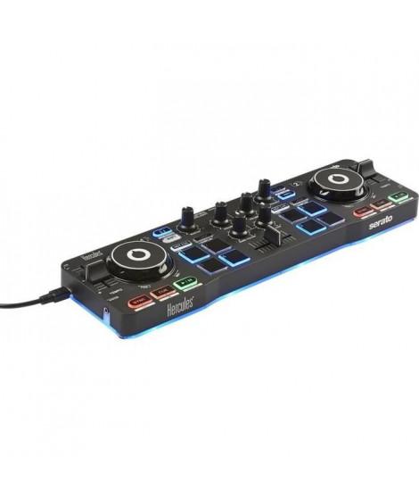 HERCULES STARLIGHT - Contrôleur DJ USB - 4 pads x 4 modes - Carte son intégrée - Serato DJ Lite inclus