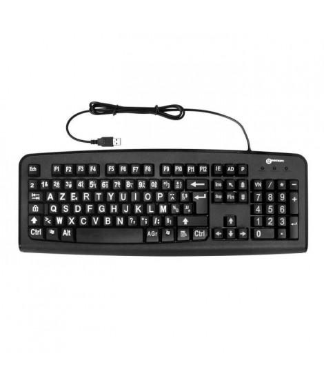 Clavier GEEMARC Confort Visuel - Grands caracteres - Pour PC