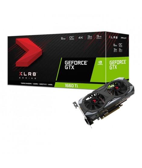 PNY Carte graphique GeForce GTX 1660 TI 6 Go XLR8 Gaming OC Limited Edition