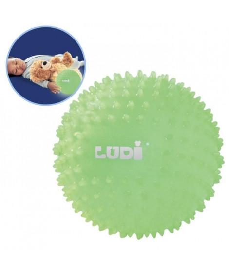 LUDI Balle Bébé Sensorielle Phosphorescente 6 m+ Diametre 15 cm
