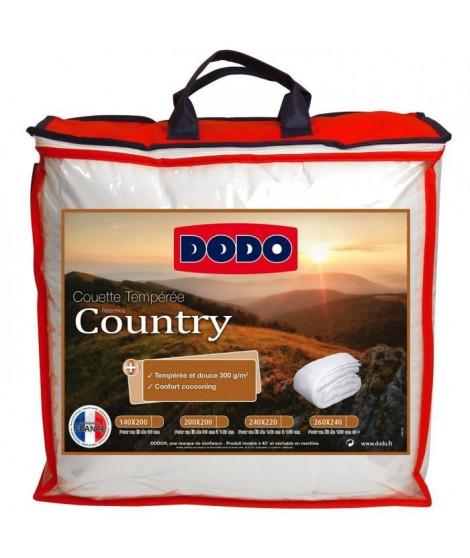 DODO Couette tempérée Country - 240 x 260 cm - Blanc