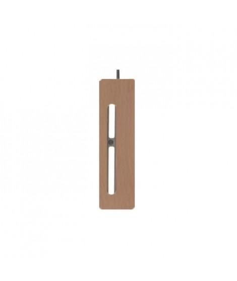 Ensemble de 2 pieds de lit LED + 2 pieds de lit standard - Bois naturel - H 23 cm