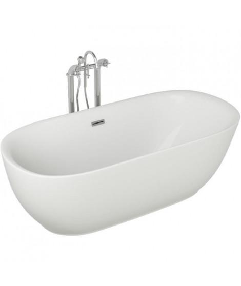 Baignoire - 180x85x58cm - Design blanc