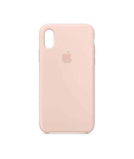 Coque en silicone pour iPhoneXS - Rose des sables
