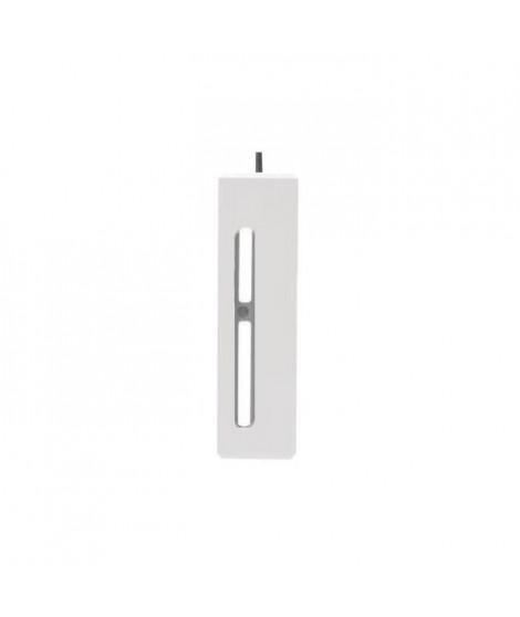 Ensemble de 2 pieds de lit LED + 2 pieds de lit standard - Blanc - H 23 cm