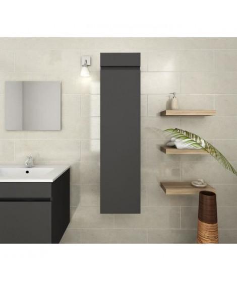 LUNA Colonne de salle de bain L 25 cm - Gris mat