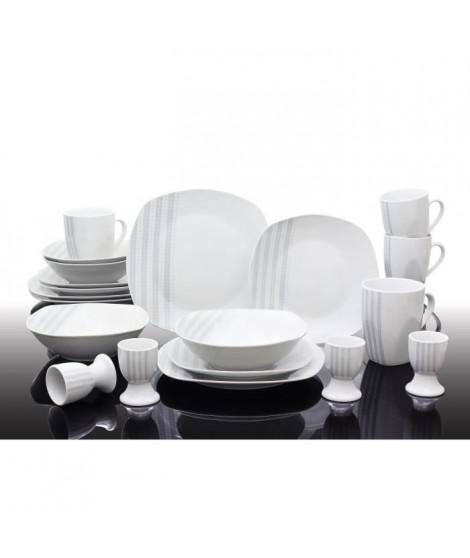 T1810503-40X - Service de table 40 pieces Nina - Porcelaine - Gris