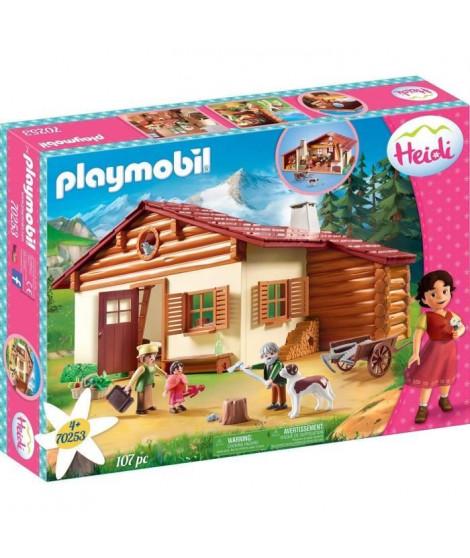 PLAYMOBIL 70253 - Heidi - Heidi avec grand-pere et chalet - Nouveauté 2020