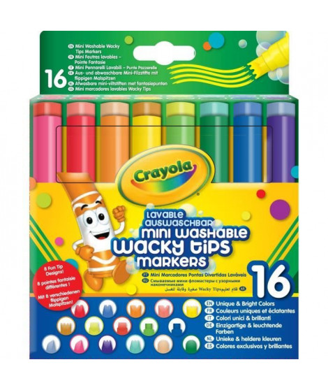 Crayola - 58-8709 - 16 feutres lavables a point...
