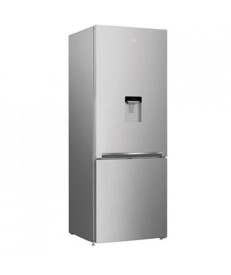 BEKO REC52S - Réfrigérateur congélateur bas - 450L (326+124) - Froid ventilé - A+ - L 70cm x H 192cm - Silver