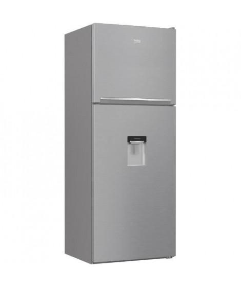 BEKO RED45DXP - Réfrigérateur congélateur haut - 402 L (309 L + 93 L) - Froid total no frost - A+ - L 70 x H 185 cm - Inox verni