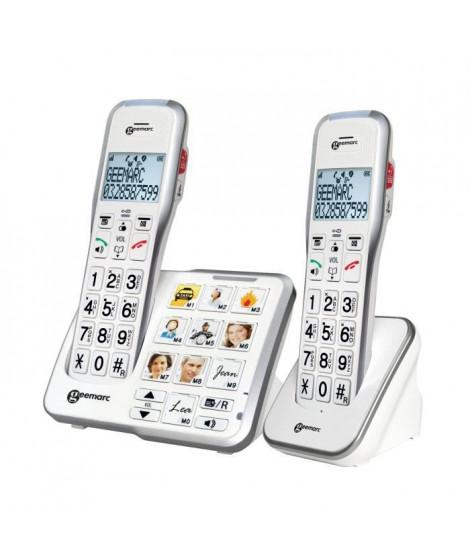 GEEMARC Téléphone sans fil grosses touches sénior  AMPLIDECT 595-2 PHOTO