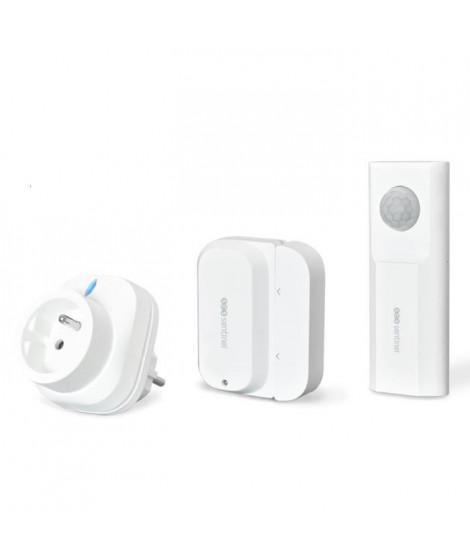 SCS SENTINEL Pack Alarme maison autonome connecté WiFiSecure -Compatible Google Assistant