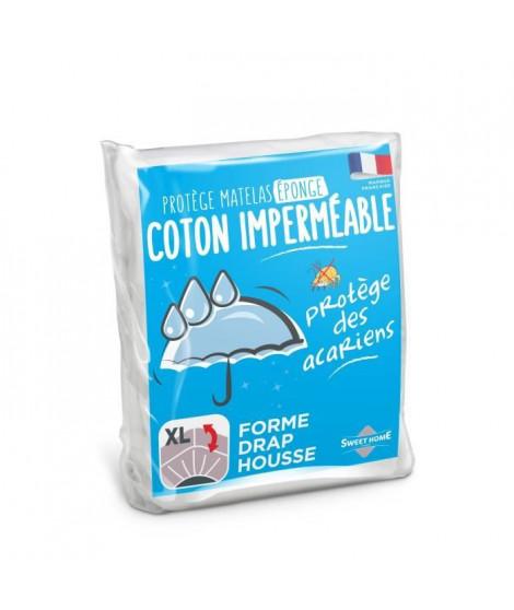 SWEETHOME Protege-matelas éponge 100% coton - Imperméable - 90x190 cm