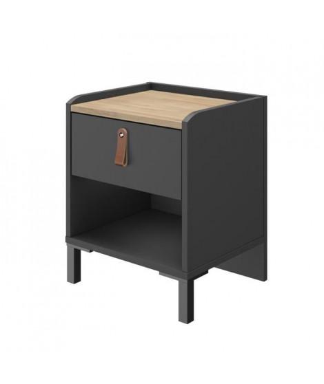 ROTTERDAM Table de chevet 1 tiroir - L 38 x H 47 x P 34 cm