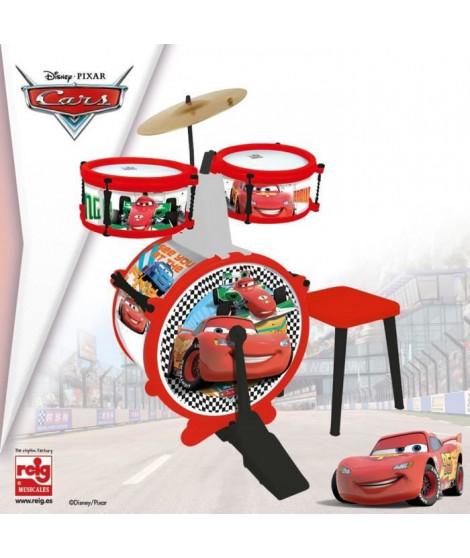 CARS Batterie et tabouret (Grosse caisse, deux tambours, cymbale, pedale, baguettes)