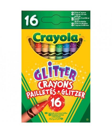 Paillettes, crayons de couleur 16-Pack